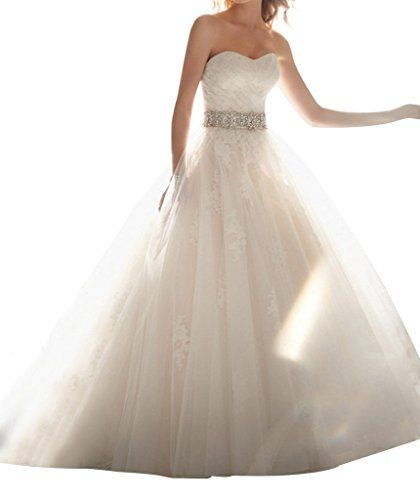 YXJDress Strapless Classic Tulle Wedding Dress Floor Length Bridal Gown *** Be sure to check out this awesome product.
