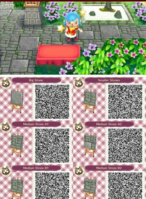 Grey Zen Mosaic Stone Pathway Qr Codes Animal Crossing Animal