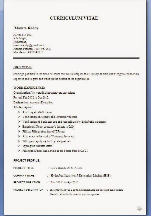 Easy Resume Template Sample Template Example Ofexcellent