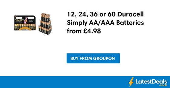12 24 36 Or 60 Duracell Simply Aa Aaa Batteries From 4 98 At Groupon Duracell Batteries Aaa Batteries