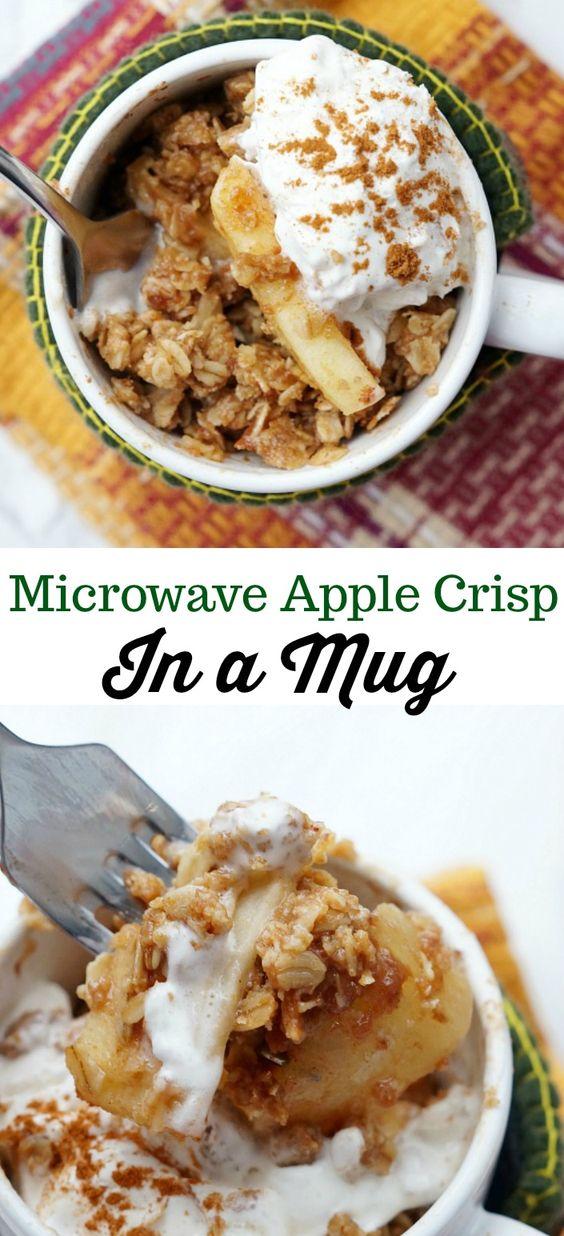 Microwave Apple Crisp in a Mug
