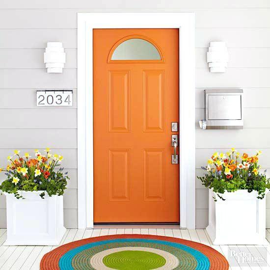 Door Painting Ideas Better Homes And Gardens Orange Door Door