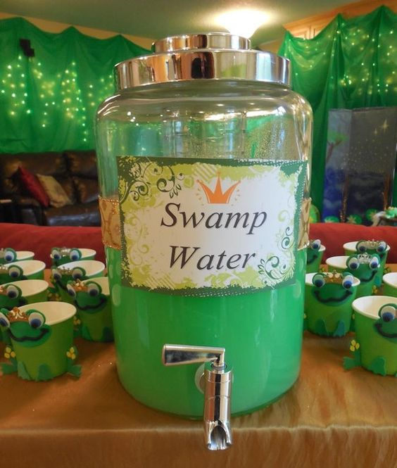 """Leap Year Frog Party Food Ideas — Kara's Party Ideas has lots of frog party food ideas like this """"Swamp Water""""."""