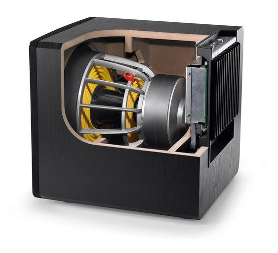 JL Audio E Series Cutaway Cabinet View