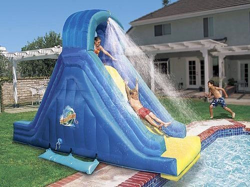 In ground pool slide used six flags banzai falls in - Used swimming pool slides for inground pools ...