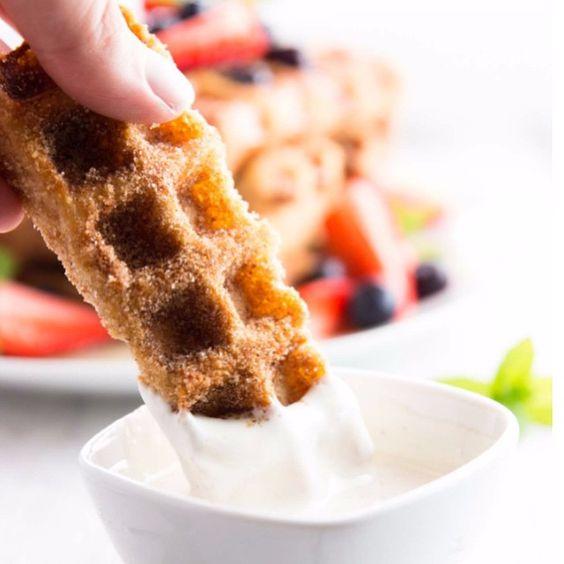 Waffled Churro French Toast Sticks