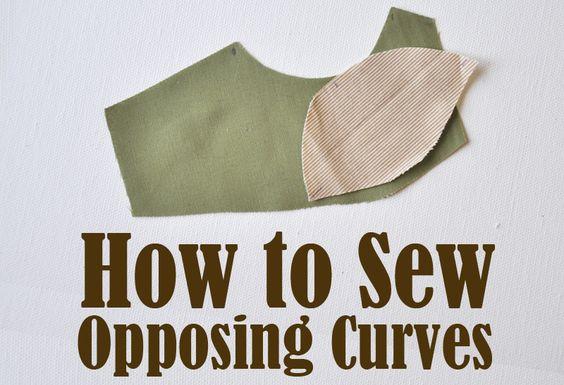 Cómo coser curvas opuestas