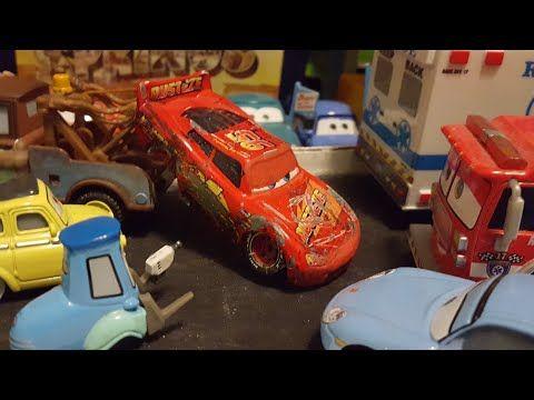Disney Pixar Cars 3 Crashed Race Damaged Lightning Mcqueen Rusteze 95 Custom Review Youtube In 2020 Disney Pixar Cars Lightning Mcqueen Pixar Cars