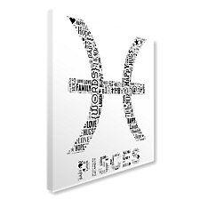 Pisces Text Montage Canvas