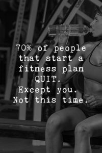 70% of people that start a fitness plan quit. Except you. Not this time. | www.simplebeautifullife.net: