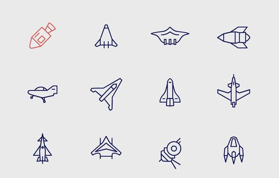 Infinity space icons by Adam Katyi, via Behance