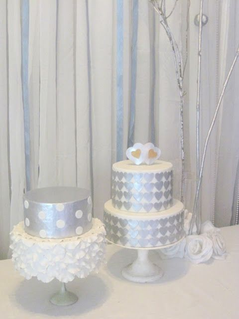silver and white cake - The Blue Cottage, Tagaytay