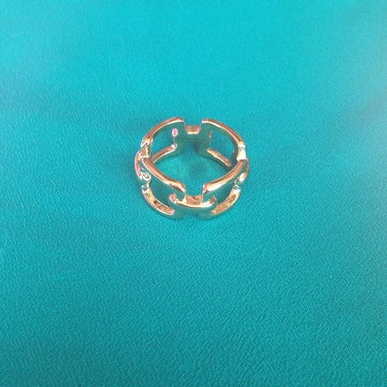 Costume gold ring from The Limited Never been worn! This ring has a slight nautical feel. I am not completely sure on the size. The Limited Jewelry Rings