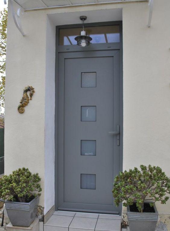 Porte entree pvc type quattro entr e pinterest for Fenetre ral 7035