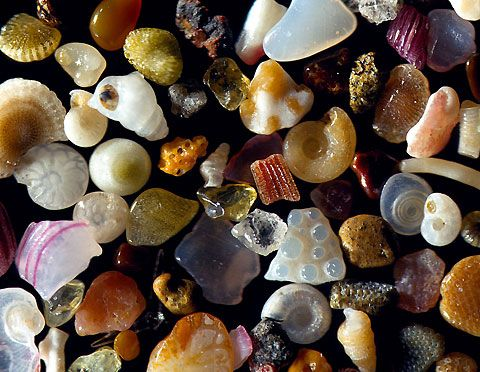 magnified sand: