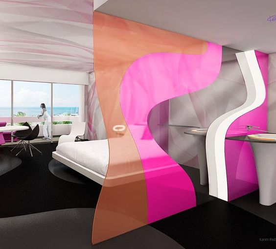 #hoteldesign by #karimrashid #karimrashidesign #kariminc #interiordesign #interiordesigner #industrialdesigner #resort #cancun #builldingdesign
