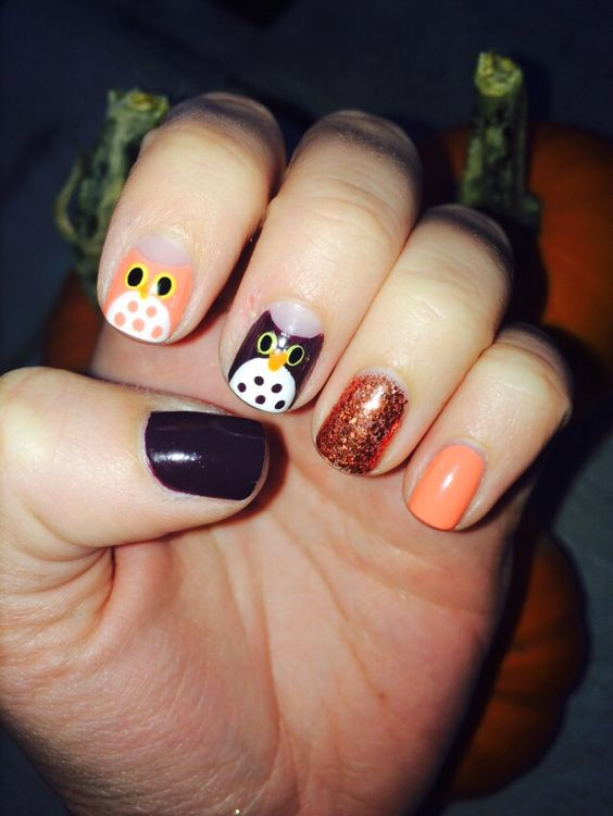 Happy Fall!! Here's some festive fall nail art for you!! #sephoranailspotting