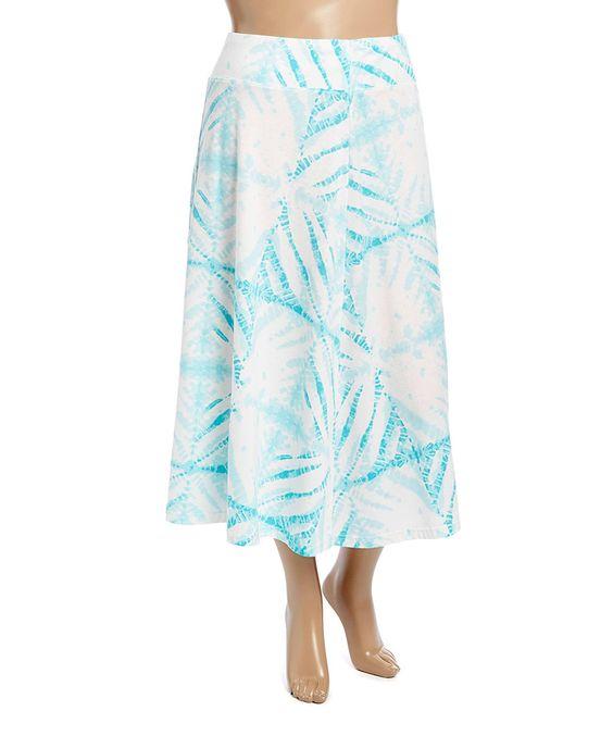 Look what I found on #zulily! Jane Ashley Aqua Tie-Dye Skirt - Plus by Jane Ashley #zulilyfinds