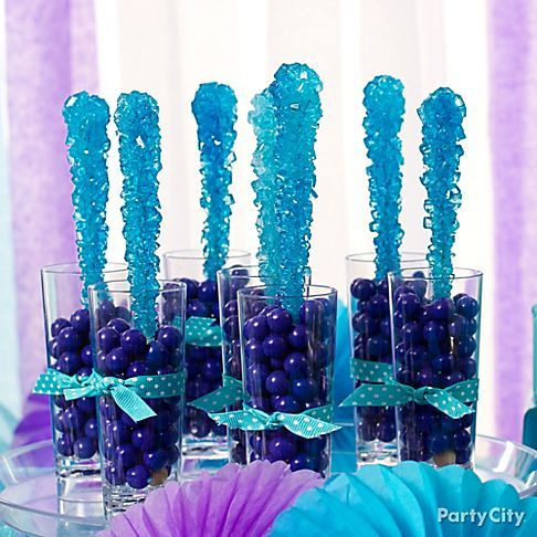 Luscious candy cordials make perfect treats for a wedding candy bar! Click to browse more in our Purple and Blue Candy Buffet Ideas gallery.