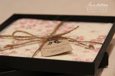 Beautiful boxed wedding invitations