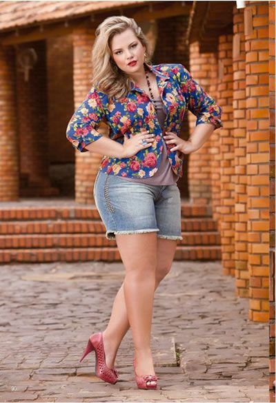 looks plus size com shorts - Pesquisa Google  Looks Plus Size