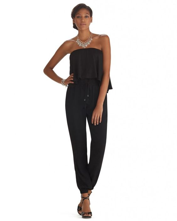 10 black jumpsuits to take you from conference room to cocktail party this holiday season. #fashion #women #outfits #dressup
