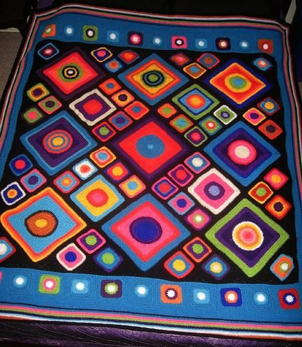 Psychedelic circles & squares rug - Project - The Spotlight Inspiration Room   Australia
