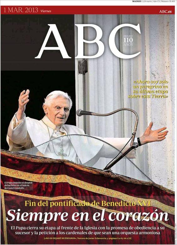 Los Titulares y Portadas de Noticias Destacadas Españolas del 1 de Marzo de 2013 del Diario ABC ¿Que le parecio esta Portada de este Diario Español?