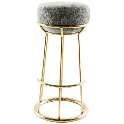 Brass Sculpted Stool By Misaya 2019 Brass Bar Stools Stool Farmhouse Table Chairs