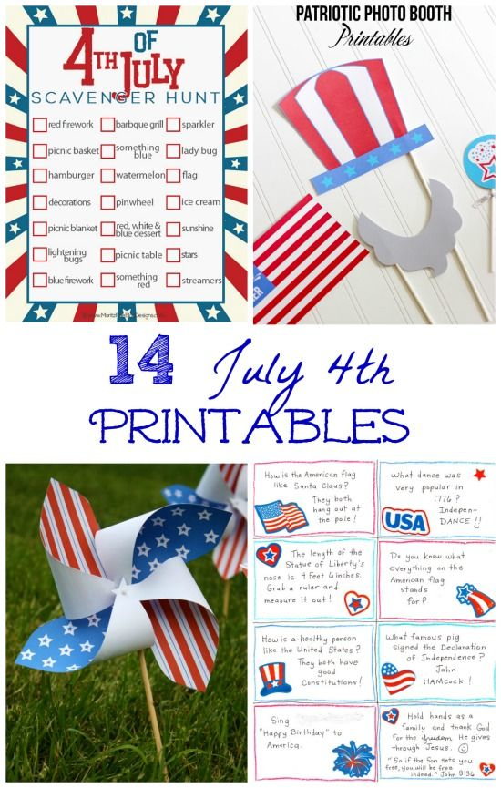 4th of july nature crafts