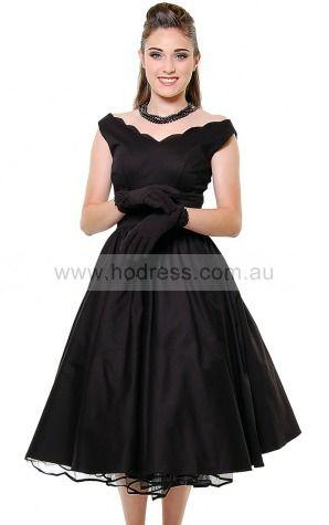Organza Off The Shoulder Natural Ball Gown Tea-length Bridesmaid Dresses 0270195--Hodress