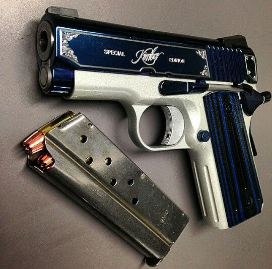 Kimber sapphire 9 mm compact..the most beautiful gun in the world