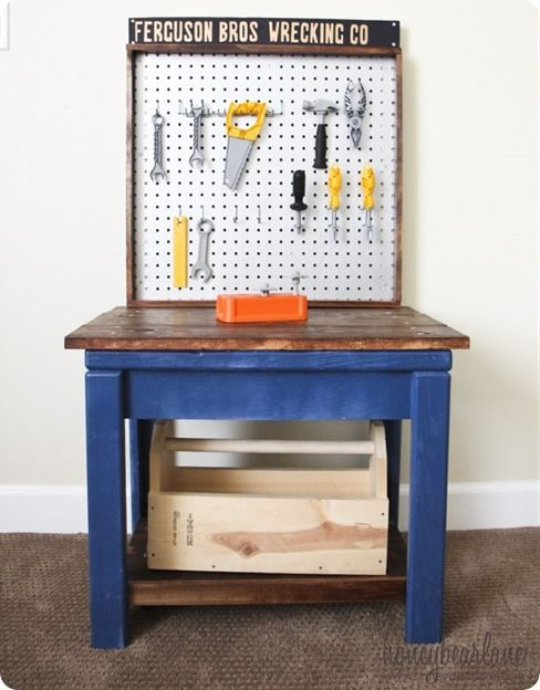 diy projects kids play tool bench inspired by pb kids