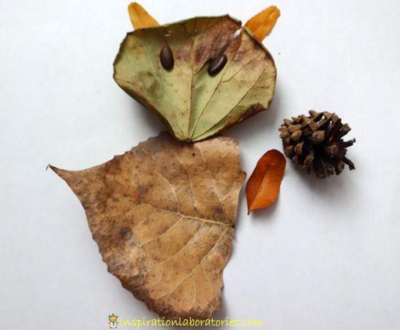hojas con formas,animales