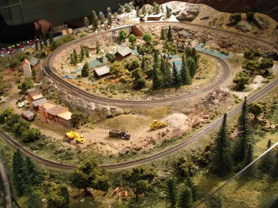 Model Train Tables : Model train table and trains on pinterest
