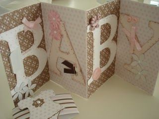 Cute and easy to make card for a baby shower