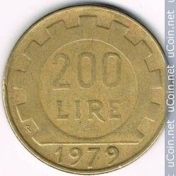 200 Lire 1977 2001 Italia Biểu Tượng