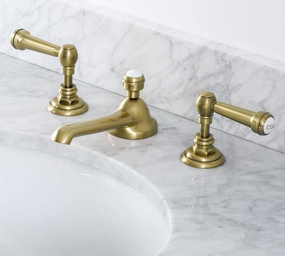 Reyes Lever Handle Widespread Bathroom Faucet In 2020 Bathroom Faucets Widespread Bathroom Faucet Brass Bathroom Faucets