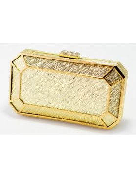Exclusive Gold Box-Shaped Women's Clutch