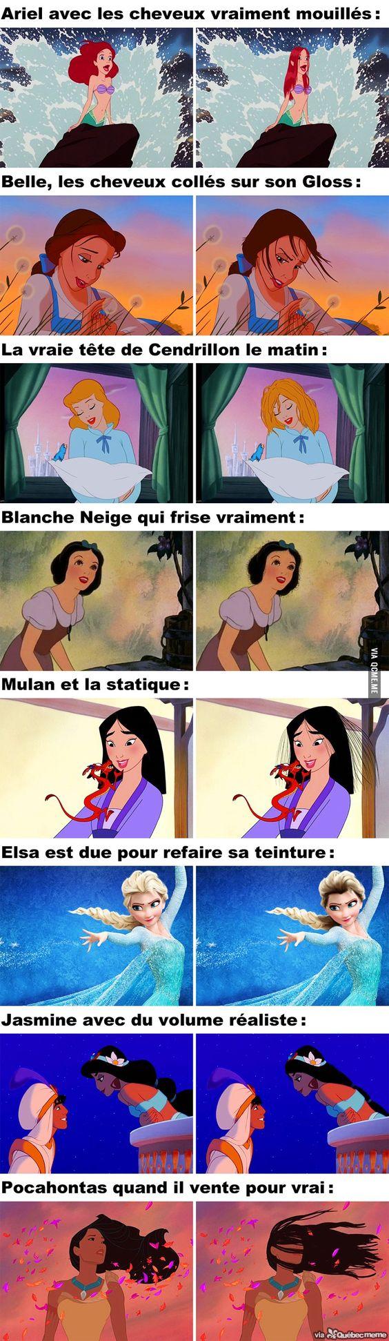 Si les Princesses de Disney avaient les Cheveux Réalistes