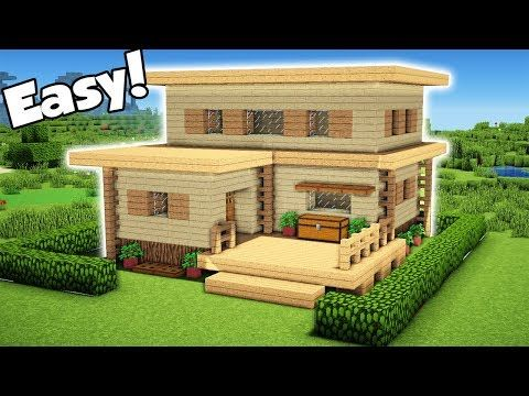 Minecraft Easy Starter Hosue Tutorial How To Build A House In