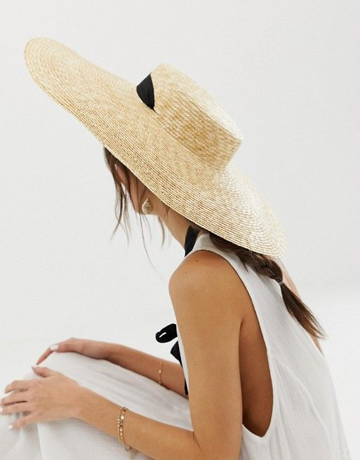 Asos Design Asos Design Natural Straw Flat Boater Straw Hats Outfit Outfits With Hats Hat Fashion