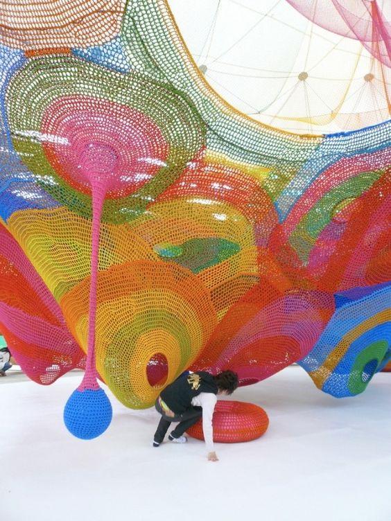Woods of Net in Hakone, Japan. Designed by Toshiko Horiuchi Macadam.