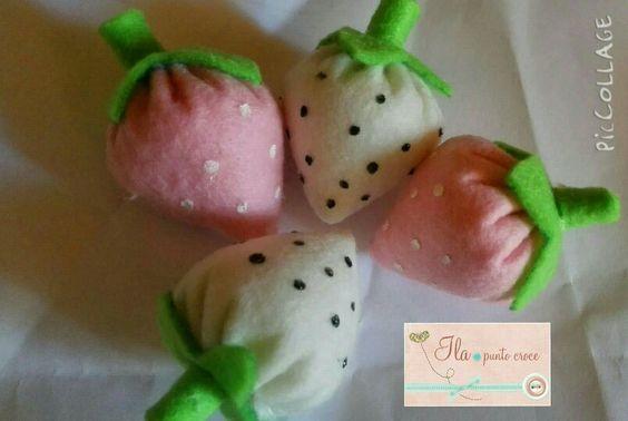 Fragoline, feltro, dolci