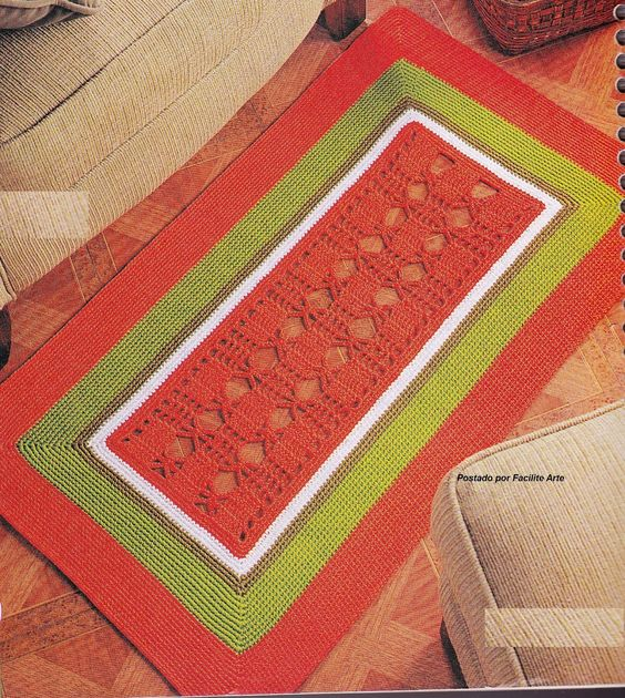 Facilite Sua Arte: Tapete 15 - Verde e vermelho