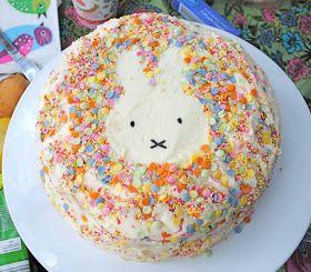 Simple Miffy cake