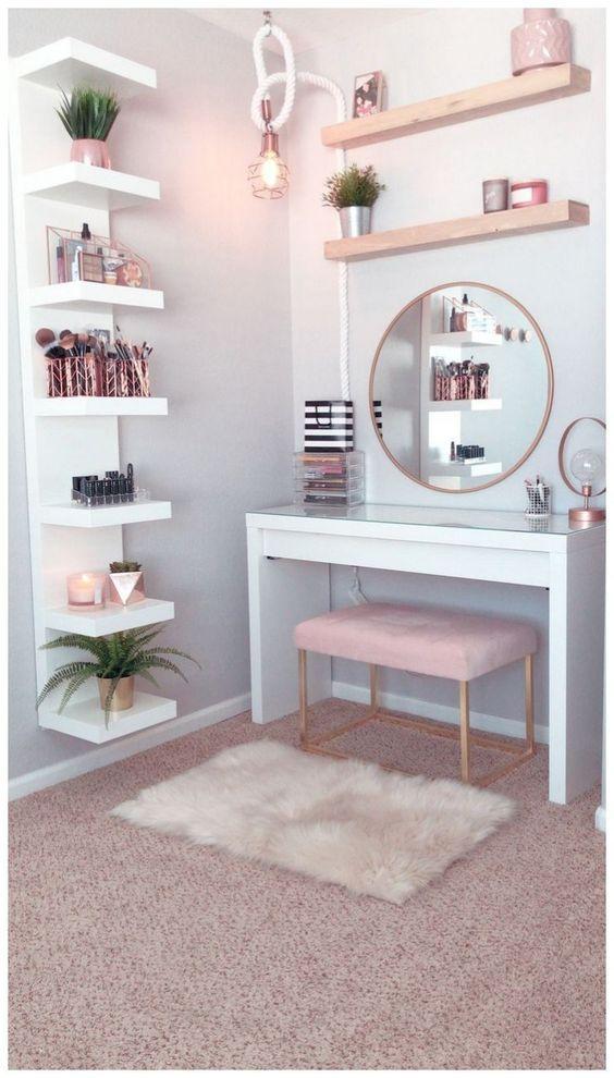 Best Makeup Vanities Cases For Stylish Bedroom 21 Room Decor Home Decor Shelves Bedroom Decor