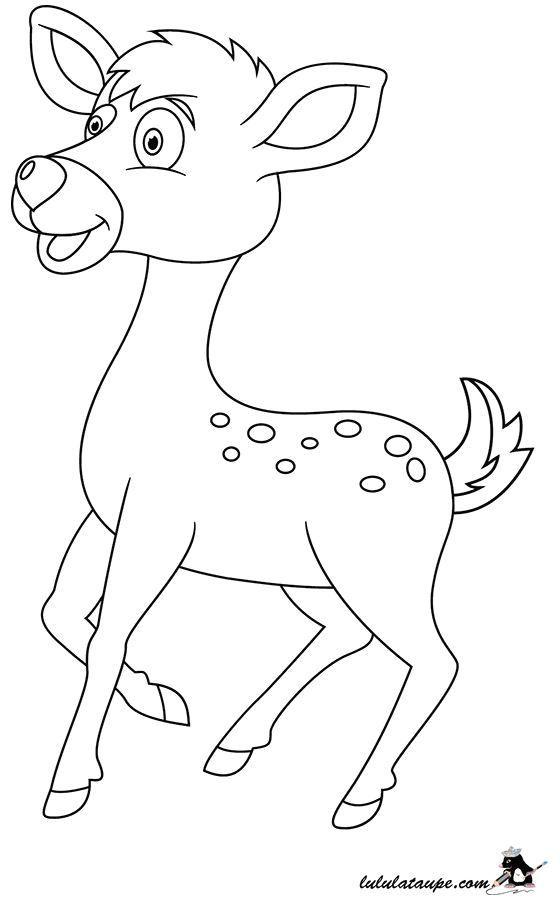 Coloriage Un Faon Lulu La Taupe Jeux Gratuits Pour Enfants Baby Crafts Character Disney Characters