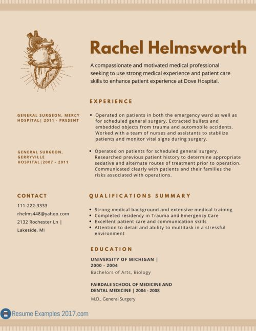 Perfect medical resume sample 2017 can be hard to find. Luckily ...