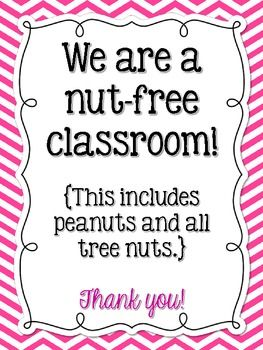 Image result for nut free classroom picture